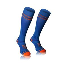 Compressport zokni-kék harisnya teljes v2.1