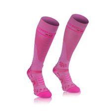 Compressport zokni-rózsaszín térd zokni teljes v2.1