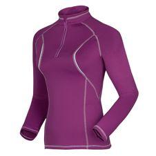 Husky Dámskr termo tričko - jeseň, zima T-EB Long sleeve zip L fialová
