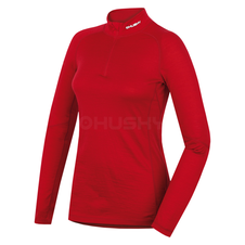Husky Merino termoprádlo Tričko dlhé dámske so zipsom červená
