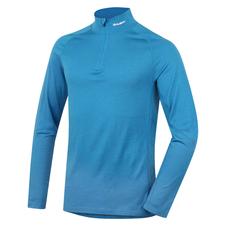 Husky Merino termoprádlo Tričko dlhé pánske so zipsom modrá