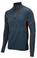 Husky Pánske termo tričko Active winter long zip antracit