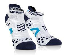 Compressport LO fehér/kék zokni fuss v2.1