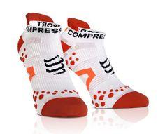 Compressport LO fehér/piros zoknit fuss v2.1