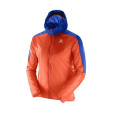 Salomon Fast Wing Hoodie M - flame/surf the web