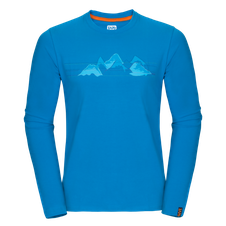 Zajo Bormio T-shirt LS - blue jewel mountains