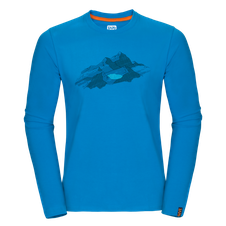 Zajo Bormio T-shirt LS - blue jewel nature